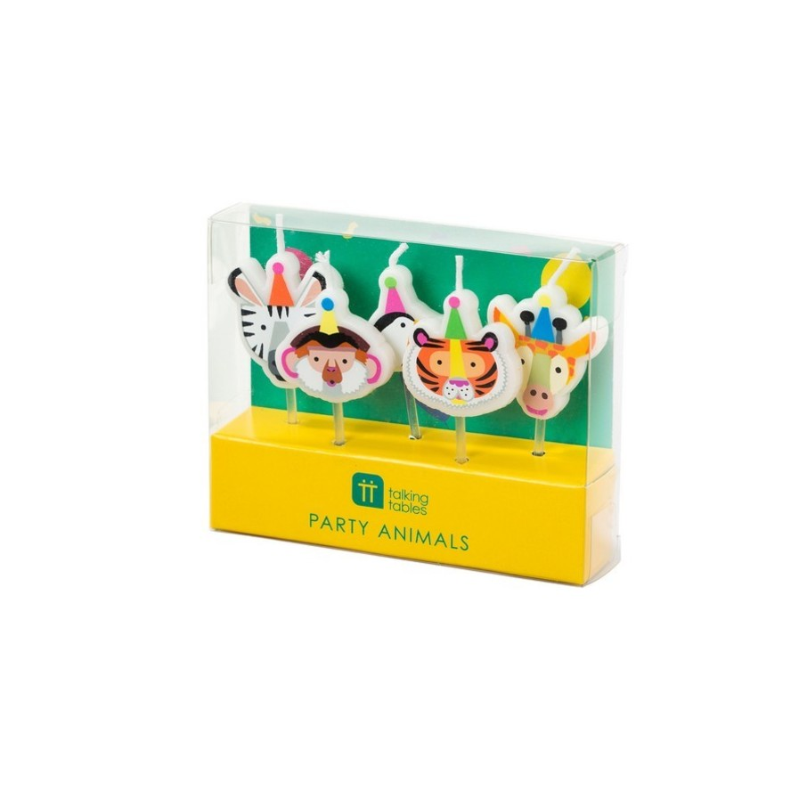 View larger image of Talking Tables Party Animals Shaped Candles, 5ct