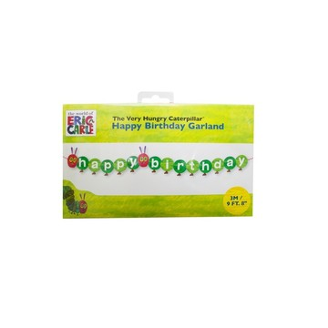 "Talking Tables The Very Hungry Caterpillar ""Happy Birthday "" 9' Banner"