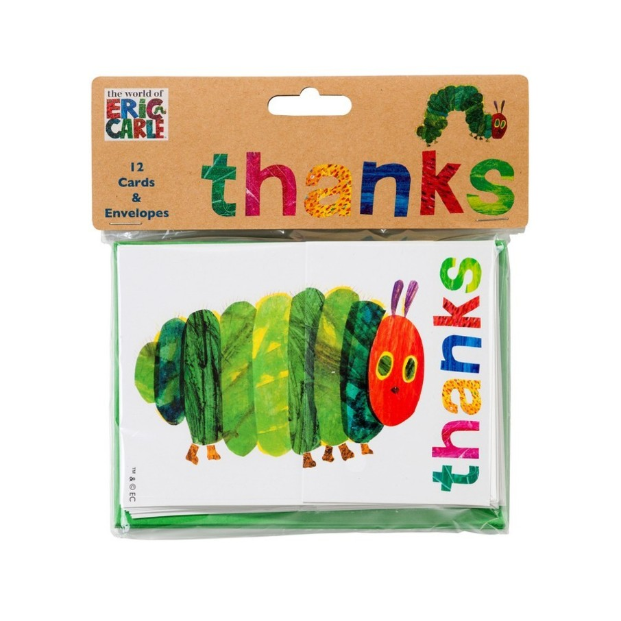 View larger image of Talking Tables The Very Hungry Caterpillar Post Card Thank Yous with Envelope, 12ct