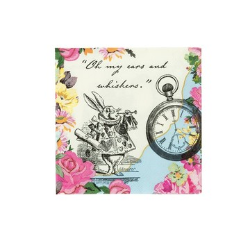 Talking Tables Truly Alice Beverage Napkin, 20ct