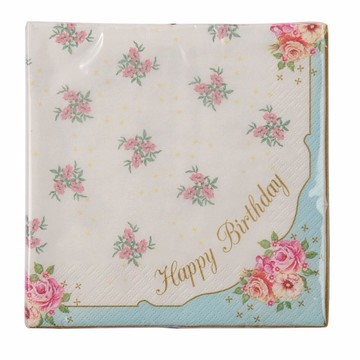 Talking Tables Truly Scrumptions Happy Birthday Lunch Napkin, 20ct