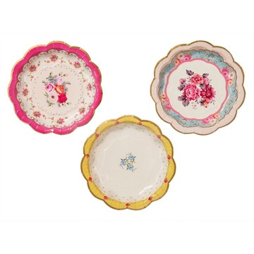 "Talking Tables Truly Scrumptious Assorted 7"" Scallop Dessert Plate, 12ct"
