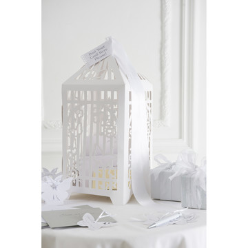 Talking Tables White Butterfly Card Box
