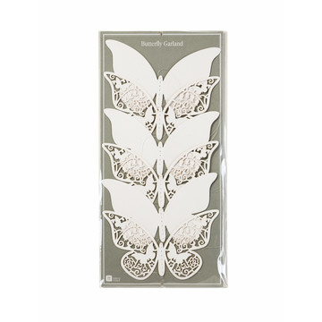 Talking Tables White Butterfly Garland