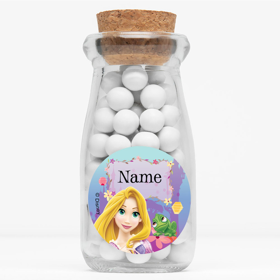 """View larger image of Tangled Personalized 4"""" Glass Milk Jars (Set of 12)"""