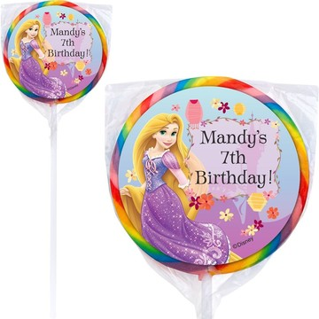 Tangled Personalized Lollipops (12 Pack)