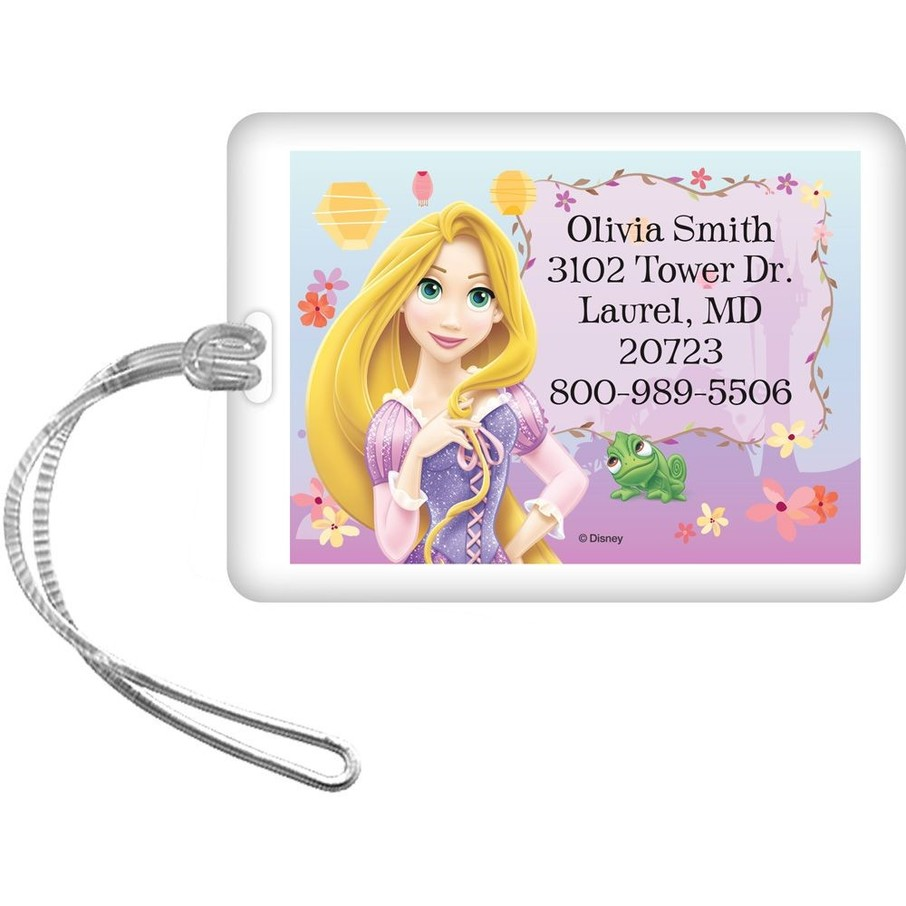 View larger image of Tangled Personalized Luggage Tag (Each)