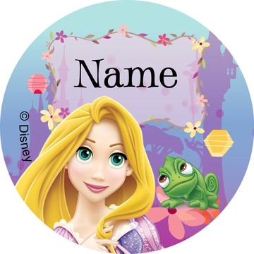 Tangled Personalized Mini Stickers (Sheet of 24)