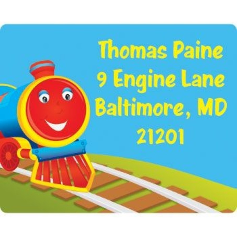 View larger image of Tank Engine Personalized Address Labels (sheet of 15)