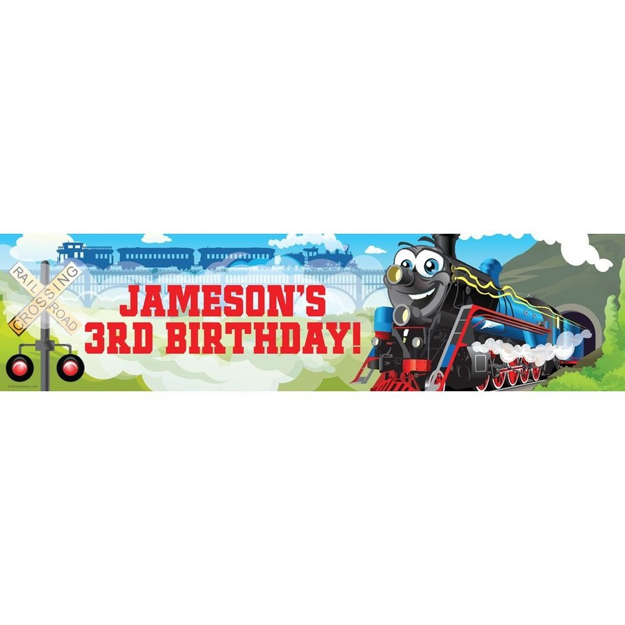 View larger image of Tank Engine Personalized Banner (each)