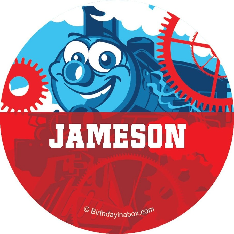 View larger image of Tank Engine Personalized Button (each)