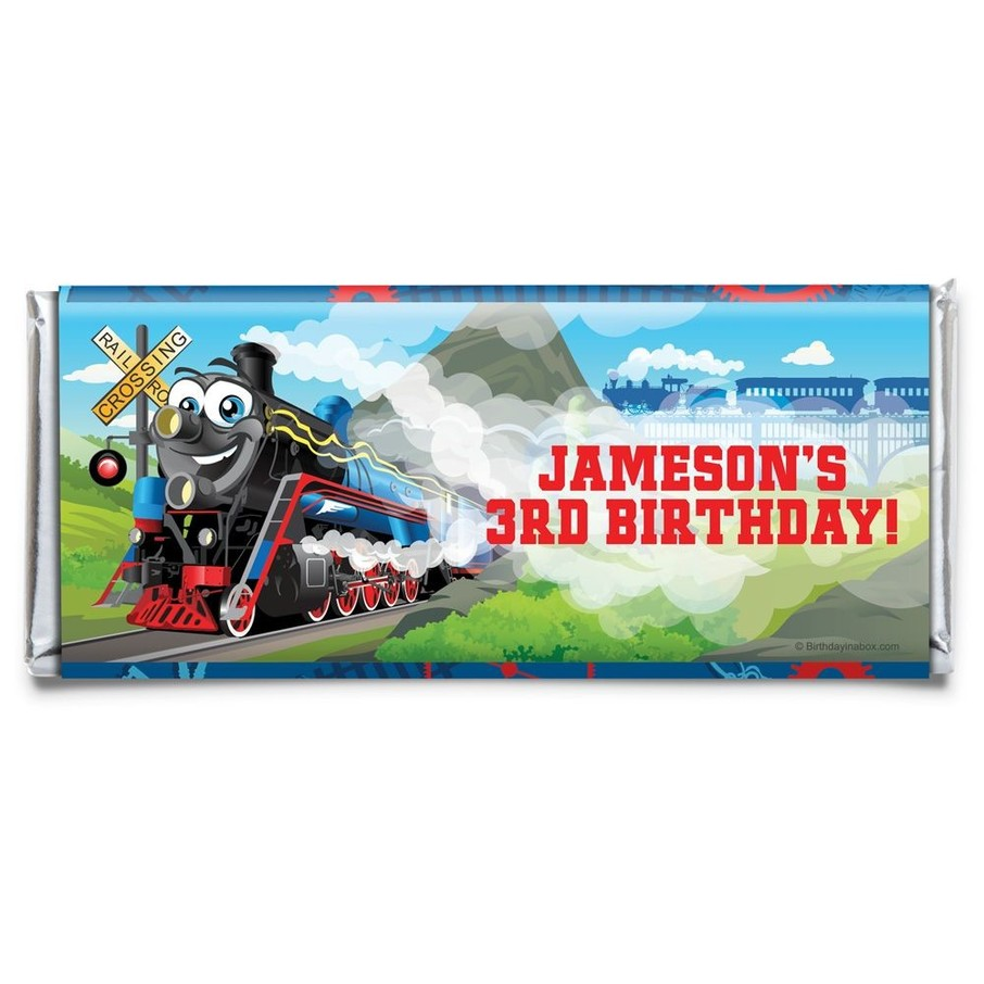 View larger image of Tank Engine Personalized Candy Bar Wrapper (Each)
