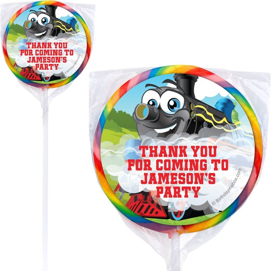 View larger image of Tank Engine Personalized Lollipops (pack of 12)