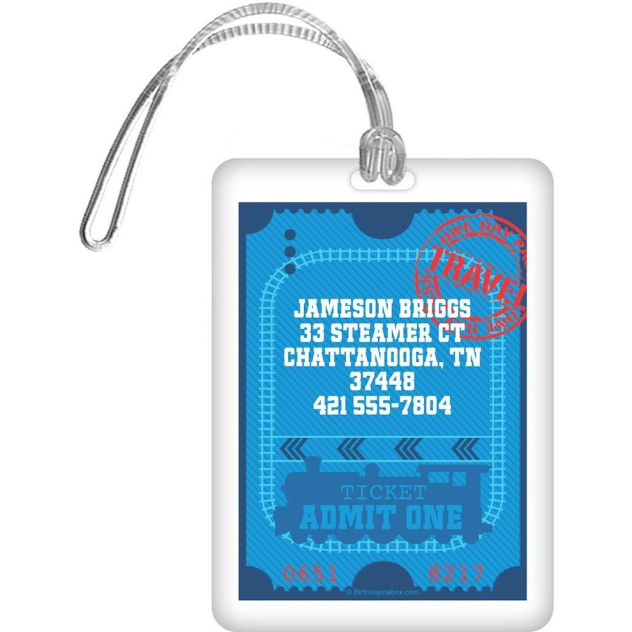 View larger image of Tank Engine Personalized Luggage Tag (each)