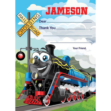 Tank Engine Personalized Thank You Note (each)
