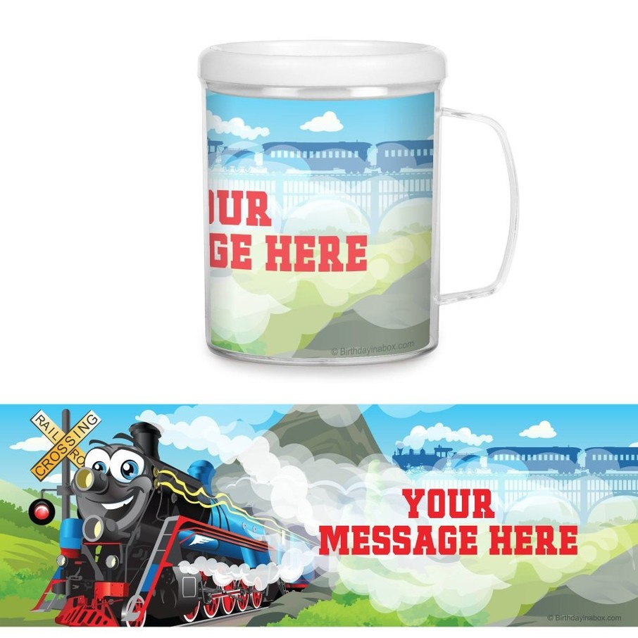 View larger image of Tank Engine Plastic Personalized Favor Mugs (Each)