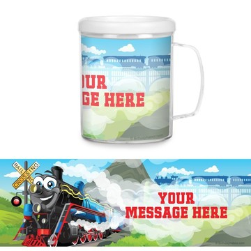 Tank Engine Plastic Personalized Favor Mugs (Each)
