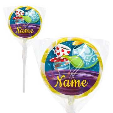 "Tea Party Personalized 2"" Lollipops (20 Pack)"