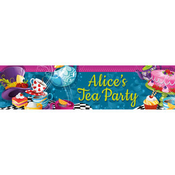 Tea Party Personalized Banner (Each)