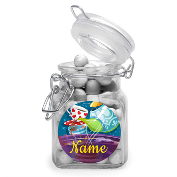 Tea Party Personalized Glass Apothecary Jars (12 Count)