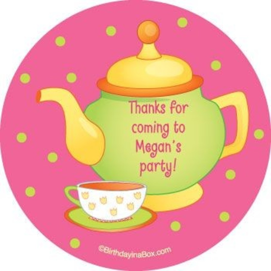 View larger image of Tea Party Personalized Stickers (sheet of 12)