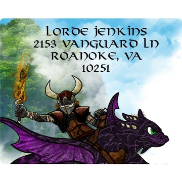 The Dragon Whisperer Personalized Address Labels (Sheet of 15)