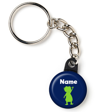 "The Friendly Dinosaur Personalized 1"" Mini Key Chain (Each)"
