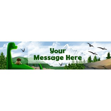 The Friendly Dinosaur Personalized Banner (Each)
