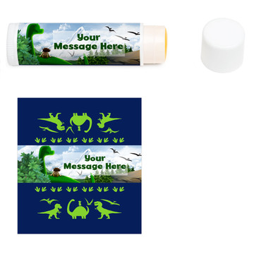 The Friendly Dinosaur Personalized Lip Balm (12 Pack)