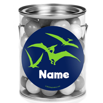 The Friendly Dinosaur Personalized Mini Paint Cans (12 Count)