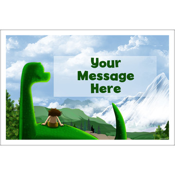 The Friendly Dinosaur Personalized Placemat (Each)