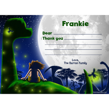 The Friendly Dinosaur Personalized Thank You (Each)