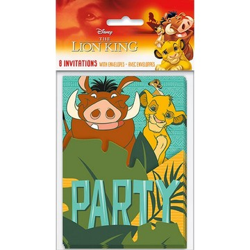 The Lion King Invitations, 8ct