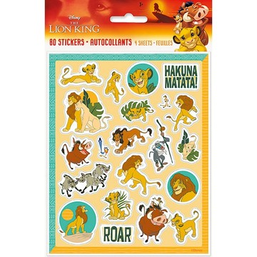 The Lion King Sticker Sheets, 4ct