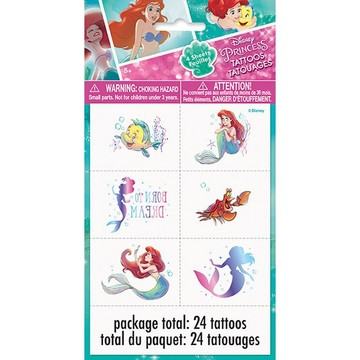 The Little Mermaid Tattoos, 24ct