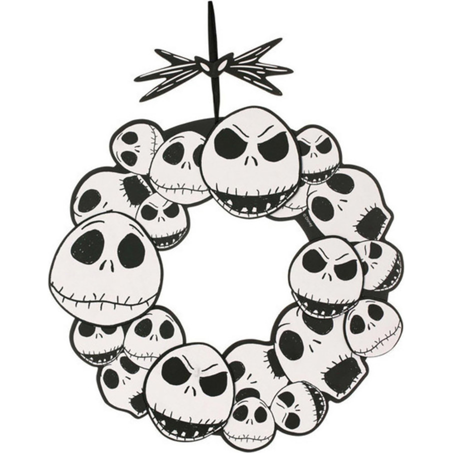 """View larger image of The Nightmare Before Christmas Jack Skellington 17"""" Wreath"""