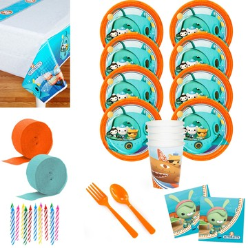 The Octonauts Deluxe Tableware Kit (Serves 8)