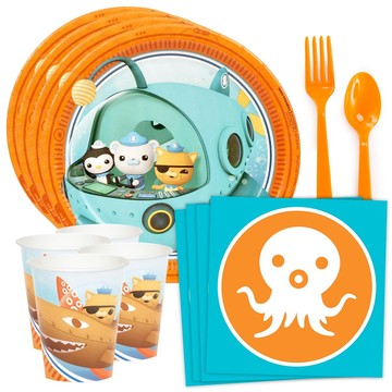 The Octonauts Standard Tableware Kit (Serves 8)