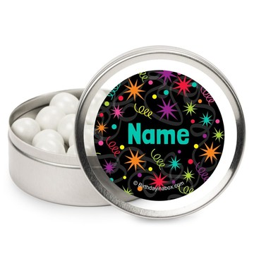 The Party Continues Personalized Candy Tins (12 Pack)