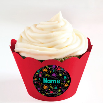 The Party Continues Personalized Cupcake Wrappers (Set of 24)