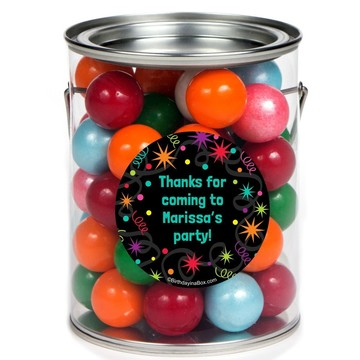 The Party Continues Personalized Paint Can Favor Container (6 Pack)