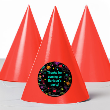 The Party Continues Personalized Party Hats (8 Count)