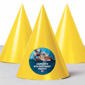 Thor Personalized Party Hats (8 Count)