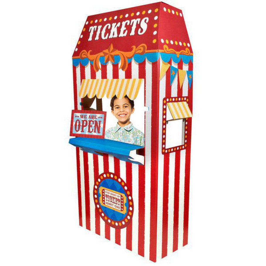 View larger image of Ticket Booth Cardboard Stand - 6' Tall
