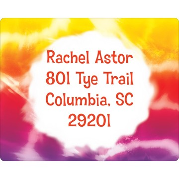Tie Dye Fun Personalized Address Labels (Sheet of 15)