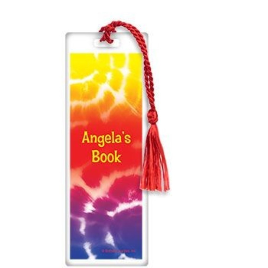 View larger image of Tie Dye Fun Personalized Bookmark (each)