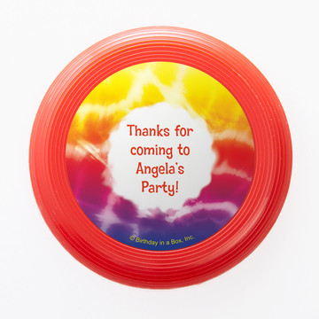 Tie Dye Fun Personalized Mini Discs (Set of 12)