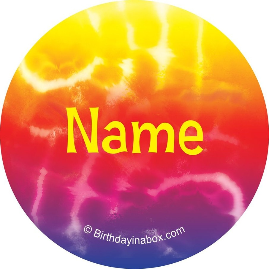View larger image of Tie Dye Fun Personalized Mini Stickers (Sheet of 24)