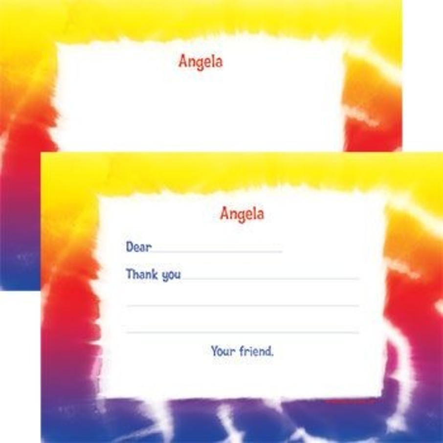 View larger image of Tie Dye Fun Personalized Thank You Note (each)