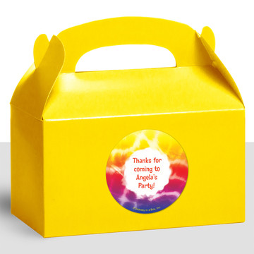 Tie Dye Fun Personalized Treat Favor Boxes (12 Count)